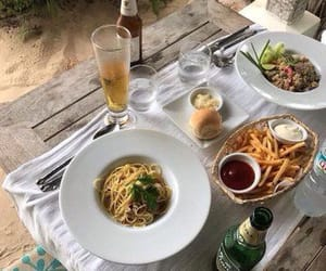 drink, food, and pasta image