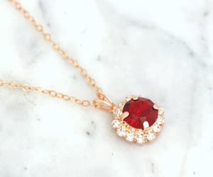 etsy, rhinestone necklace, and rose gold jewelry image