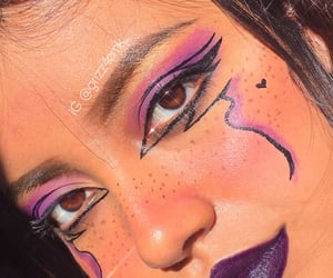 goth, maquillaje, and graphic liner image