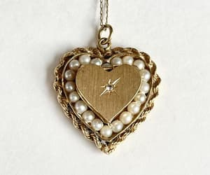 anniversary, estate necklace, and 14k chain image