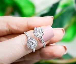 wedding rings and eternity rings image