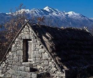house, hercegovina, and mountain image