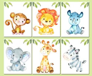 etsy, safari nursery print, and watercolor print image