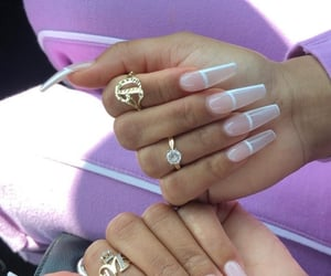 nails, jewelry, and nail inspo image