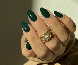nails, beauty, and green image