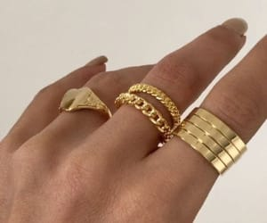 jewelry, minimalist, and gold accessories image