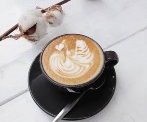 coffee, coffee art, and cotton image