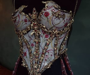 fashion, corset, and porcelain image