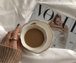 fashion, coffee, and look image