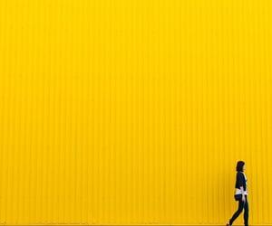 aesthetic, wall, and yellow image