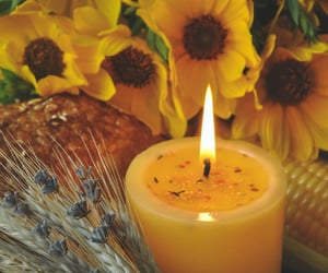 candle, aesthetic, and yellow image