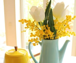 aesthetic, decor, and yellow image