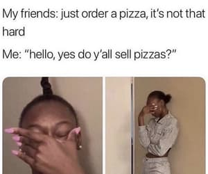 awkward, funny, and pizza image