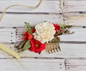 etsy, floral headpiece, and bridal hair comb image