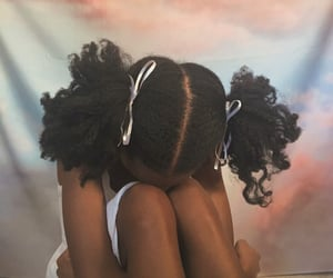 dark skin, angel aesthetic, and soft black girl image