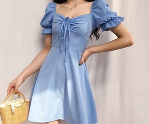 fashion, blue, and dress image
