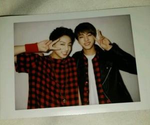 black, jin, and kpop image