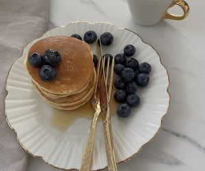 coffee, pancakes, and food image