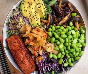 avocado, cabbage, and dinner image
