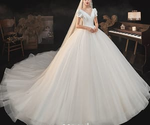 bridal, bridal gown, and girl image