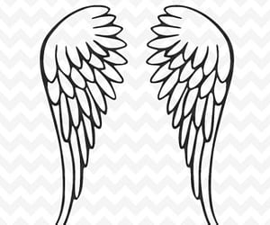 etsy, angel wings svg, and cut file cricut image