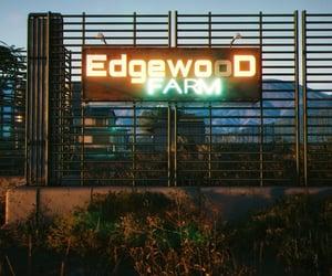 cyberpunk, neon, and farm image