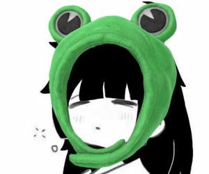 frog, frog hat, and icons image