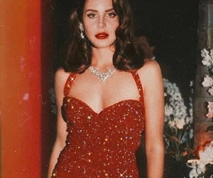 lana del rey, red, and aesthetic image