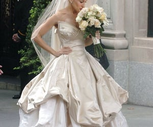 sex and the city, Carrie Bradshaw, and wedding dress image