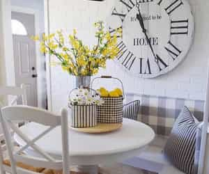 breakfast nook, decor, and home image