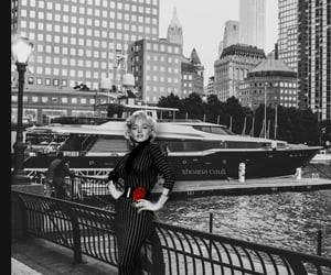 black and white, vintage, and blonde image