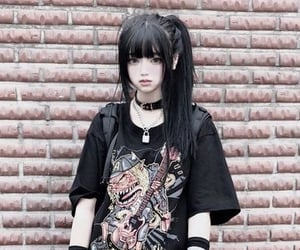 aesthetic, goth, and streetwear image