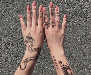 tattoo, nails, and dragon image