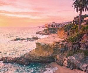 beach, california, and sea image