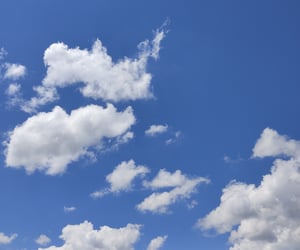 art, blue sky, and clouds image