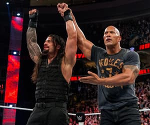 Dwayne Johnson, wwe, and the shield image