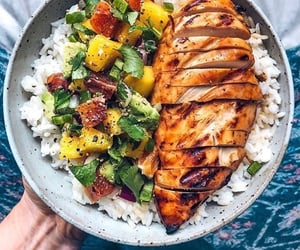 food, rice, and healthy image
