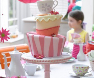 cake, parties, and tea party image