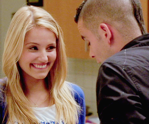glee, quinn fabray, and puck image