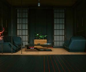 apartment, cyberpunk, and sci-fi image