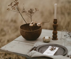 beige, table, and grass image