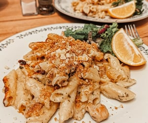 cheese, italy, and penne pasta image