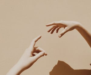 aesthetic, hands, and beige image