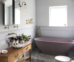 bath, bathroom, and cottage image