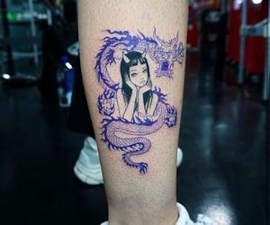 tattoo, anime, and dragon image