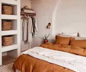 bedroom, boho, and decoration image