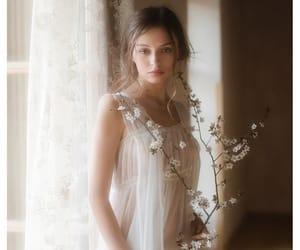 bride, sheer, and chiffon image