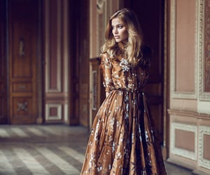 chiffon, floral dress, and formal image