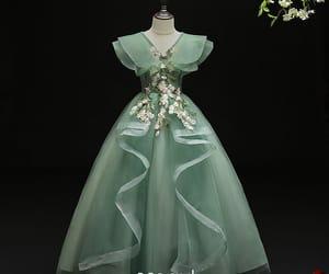 little girl dress, flower girl dress, and flower fairy dress image