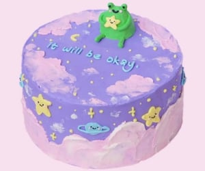 aesthetic, birthday cake, and frogs image